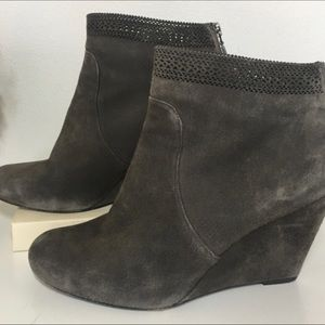Aerin Shorbold Suede Ankle Boot Laser Cut 7.5